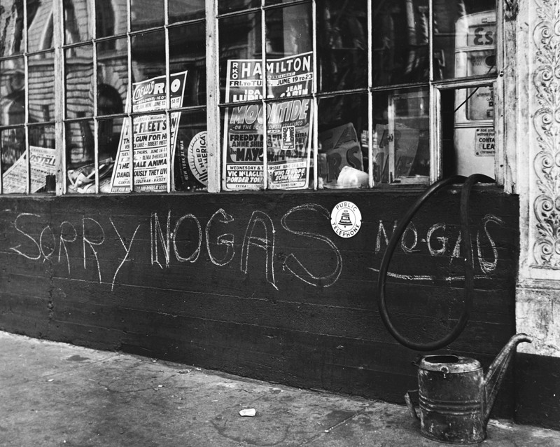 Fred Stein - Sorry No Gas, New York 1942