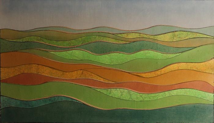 Kosta Alex - Landscape near Tonnerre, 1977