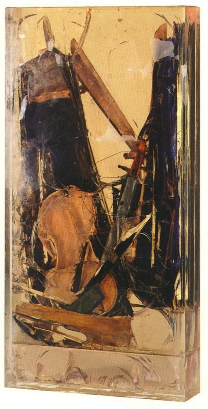 Arman - Violon et étui, 1970