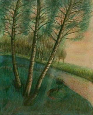 Abram Topor - Les trois bouleaux, 1988