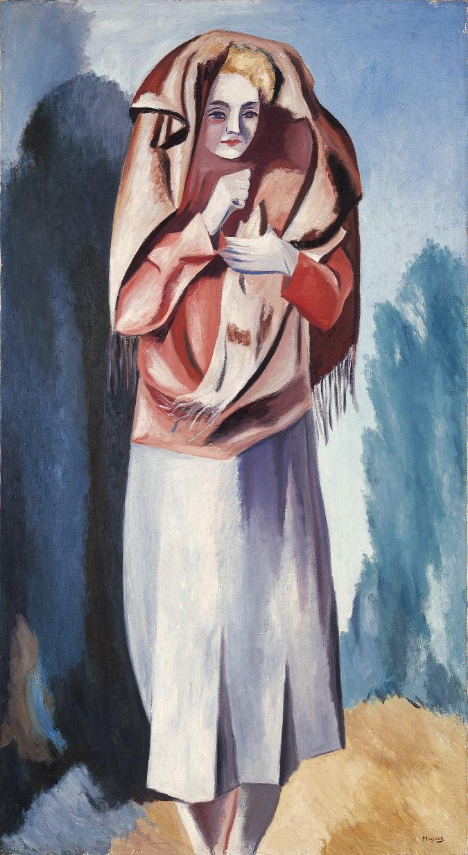 Alberto Magnelli - La femme au châle, 1928