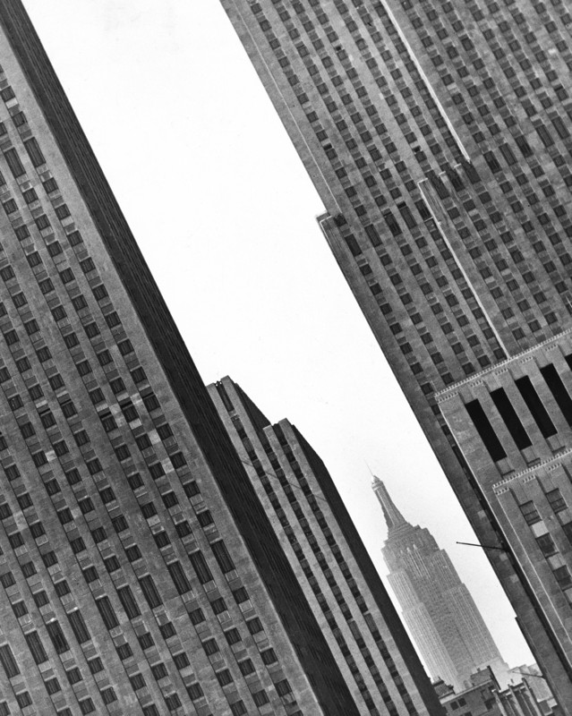 Fred Stein - Empire State Through Skyscrapers, 1942