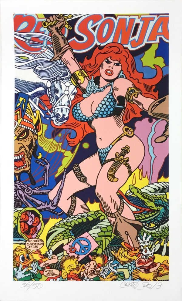 Erró - Red Sonja