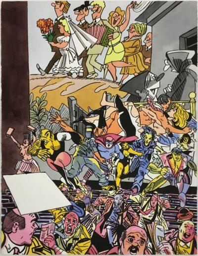 Erró - Le mariage, 1988